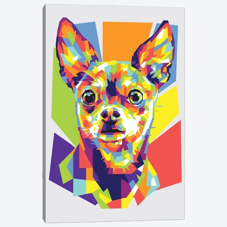 Chihuahua Canvas Print #DYB20} by Dayat Banggai Canvas Wall Art