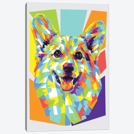 Corgi Canvas Print #DYB21} by Dayat Banggai Canvas Artwork