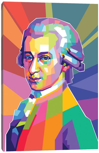 Wolfgang Amadeus Mozart Canvas Art Print