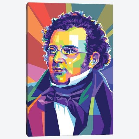 Franz Schubert Canvas Print #DYB227} by Dayat Banggai Canvas Wall Art