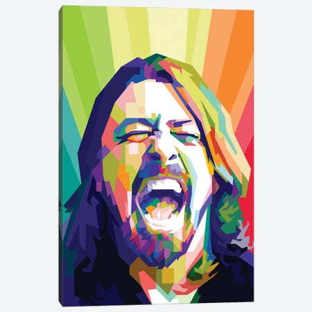Dave Grohl I Canvas Print #DYB23} by Dayat Banggai Canvas Artwork
