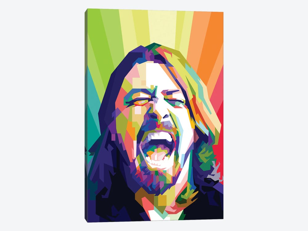 Dave Grohl I 1-piece Canvas Artwork