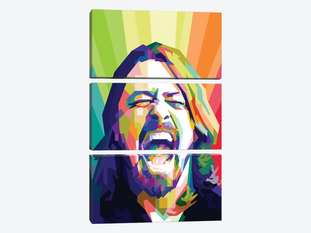 Dave Grohl I 3-piece Canvas Art