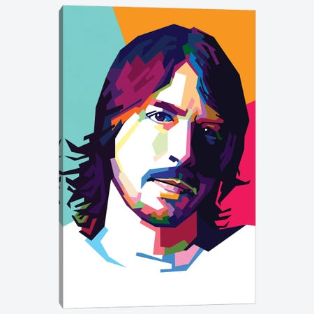 Dave Grohl II Canvas Print #DYB24} by Dayat Banggai Canvas Print