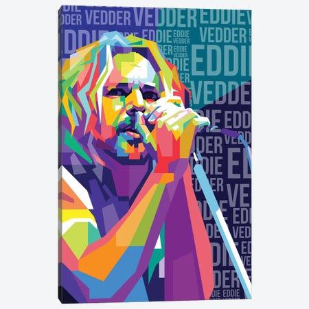 Eddie Vedder - Pearl Jam Canvas Print #DYB26} by Dayat Banggai Art Print