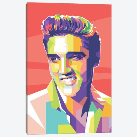 Elvis Presley Canvas Print #DYB28} by Dayat Banggai Canvas Art