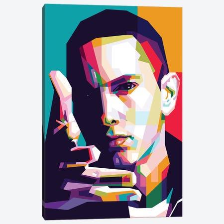 Eminem Canvas Print #DYB29} by Dayat Banggai Canvas Wall Art
