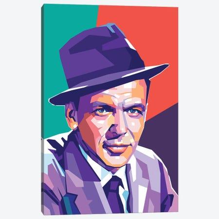 Frank Sinatra Canvas Print #DYB30} by Dayat Banggai Art Print