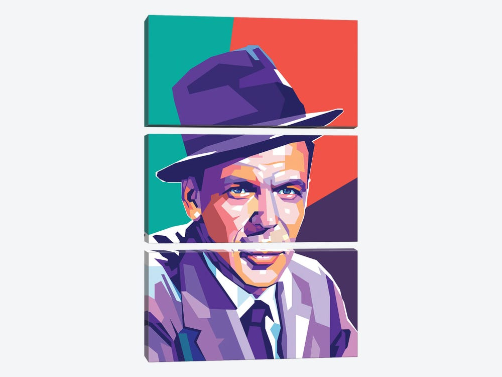 Frank Sinatra by Dayat Banggai 3-piece Canvas Artwork