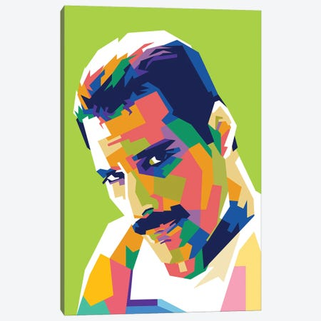 Freddie Mercury I Canvas Print #DYB31} by Dayat Banggai Canvas Art Print