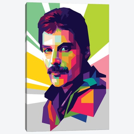 Freddie Mercury II Canvas Print #DYB32} by Dayat Banggai Canvas Art Print