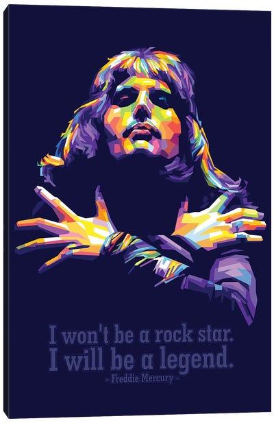 Freddie Mercury Quotes Canvas Art Print