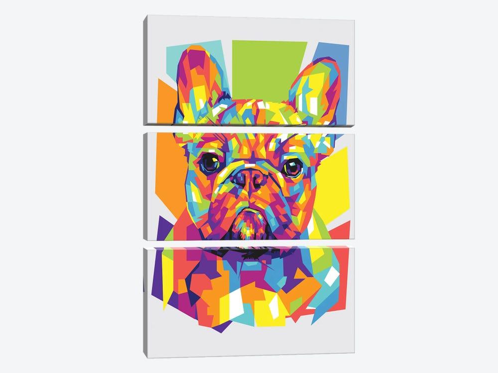 French Bulldog by Dayat Banggai 3-piece Canvas Art