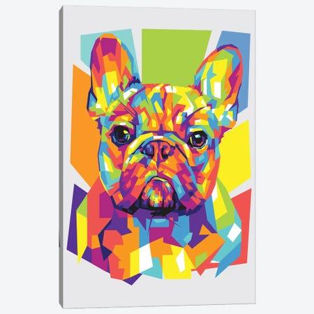 French Bulldog Canvas Print #DYB34} by Dayat Banggai Canvas Wall Art