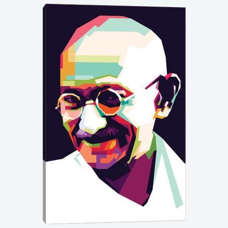 Gandhi Canvas Print #DYB35} by Dayat Banggai Canvas Wall Art
