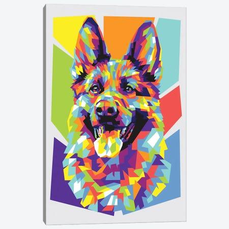 German Shepherd Canvas Print #DYB36} by Dayat Banggai Canvas Artwork