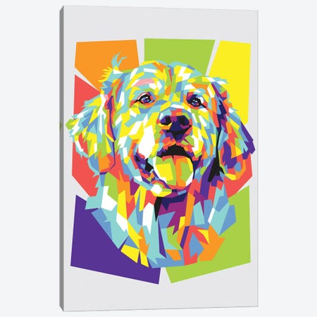 Golden Retriever 3-Piece Canvas #DYB37} by Dayat Banggai Canvas Art