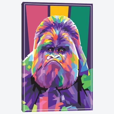 Gorilla Canvas Print #DYB38} by Dayat Banggai Canvas Art Print