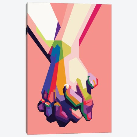 Hold My Hand 3-Piece Canvas #DYB39} by Dayat Banggai Canvas Print