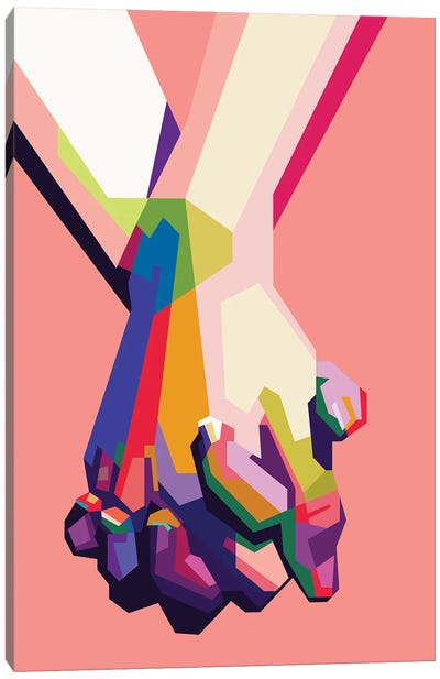 Hold My Hand Canvas Art Print