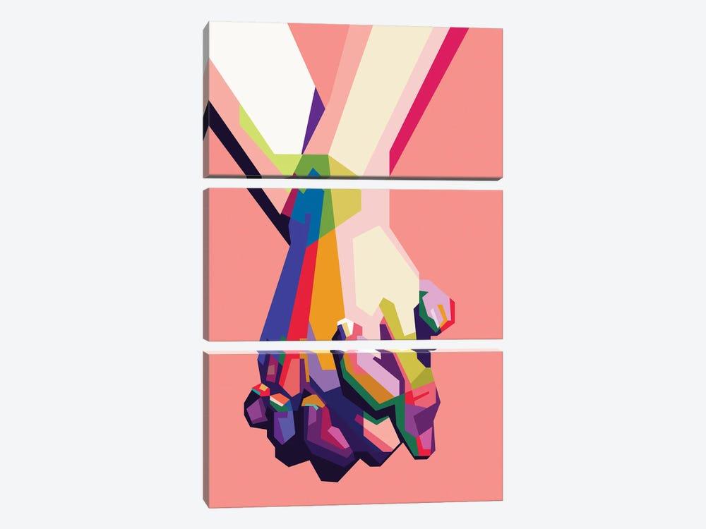 Hold My Hand by Dayat Banggai 3-piece Art Print