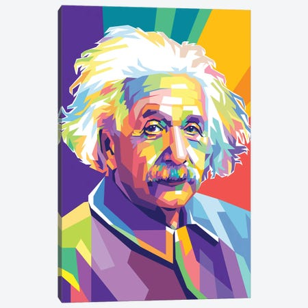 Albert Einstein Canvas Print #DYB3} by Dayat Banggai Canvas Art Print