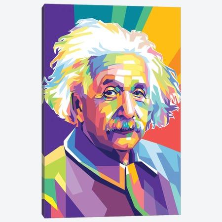 Albert Einstein Canvas Print #DYB3} by Dayat Banggai Canvas Art Print