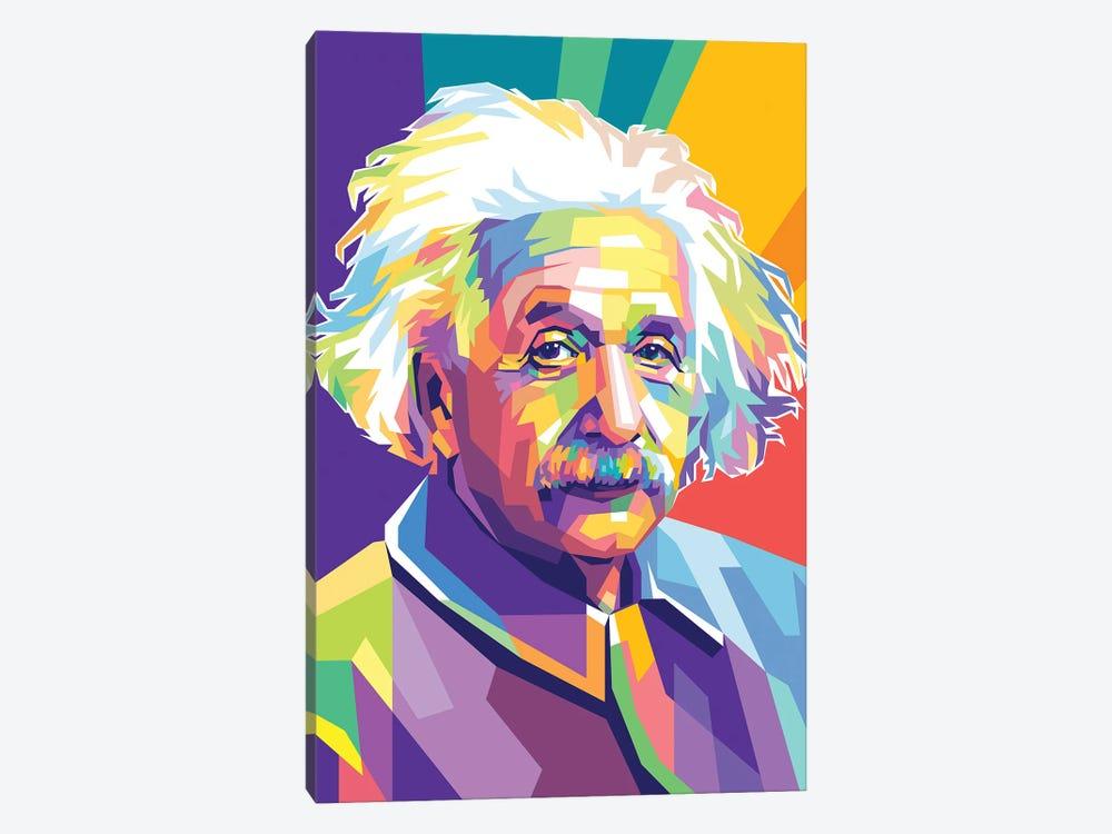 Albert Einstein by Dayat Banggai 1-piece Canvas Art Print
