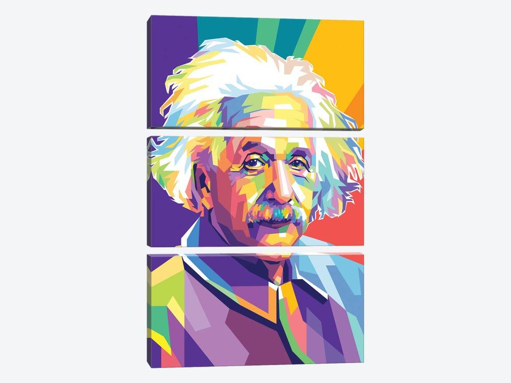 Albert Einstein by Dayat Banggai 3-piece Canvas Art Print