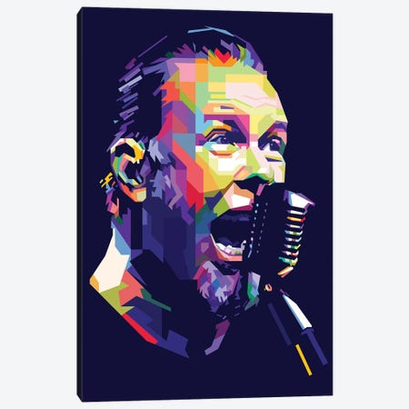 James Hetfield 3-Piece Canvas #DYB40} by Dayat Banggai Canvas Artwork