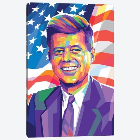 John Fitzgerald Kennedy Canvas Print #DYB42} by Dayat Banggai Canvas Art