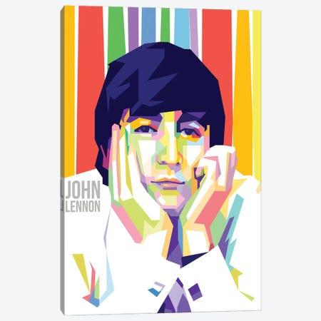 John Lennon I Canvas Print #DYB43} by Dayat Banggai Canvas Art