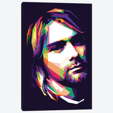 Kurt Cobain Canvas Print #DYB46} by Dayat Banggai Canvas Print