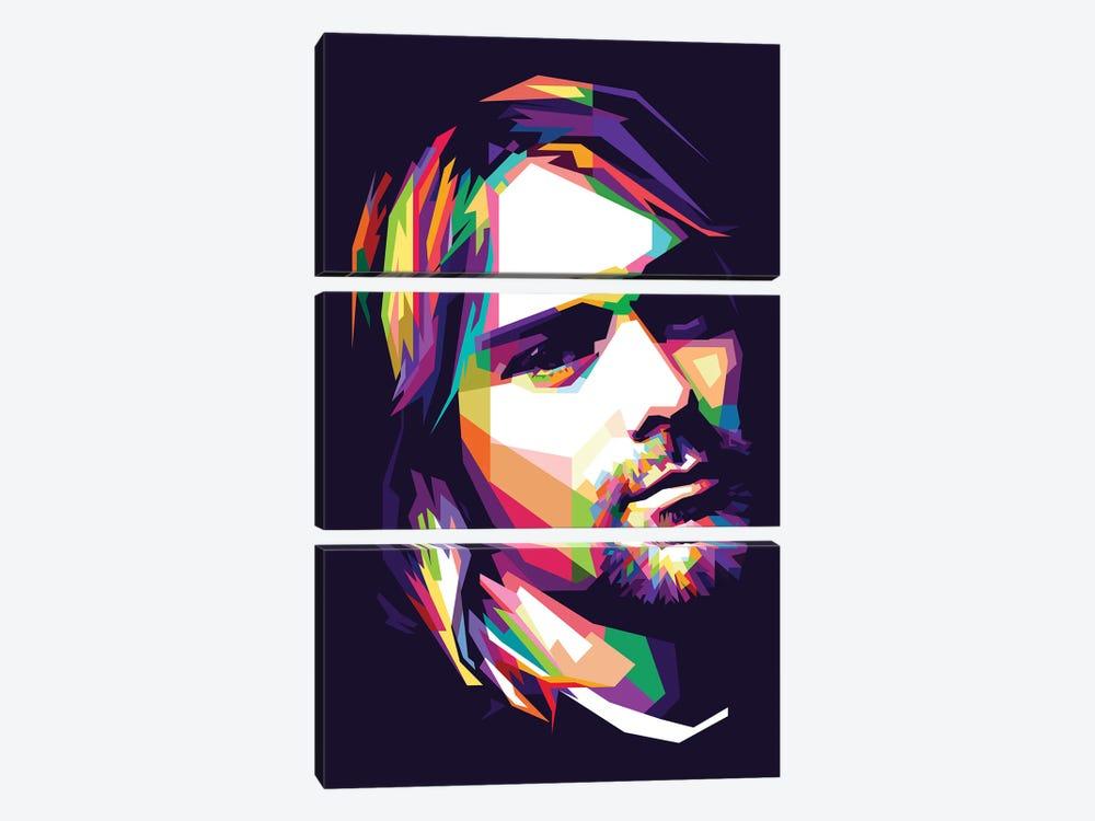 Kurt Cobain by Dayat Banggai 3-piece Canvas Print