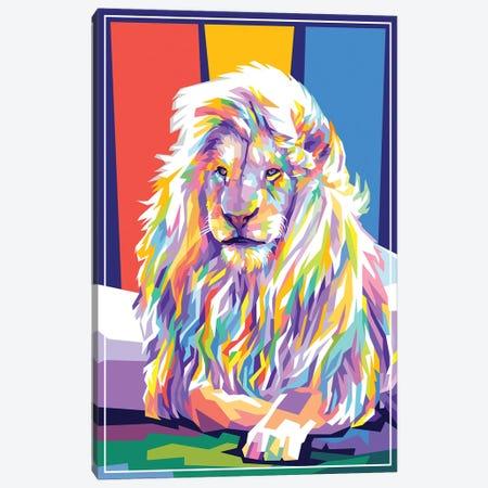 Lion Canvas Print #DYB48} by Dayat Banggai Canvas Artwork