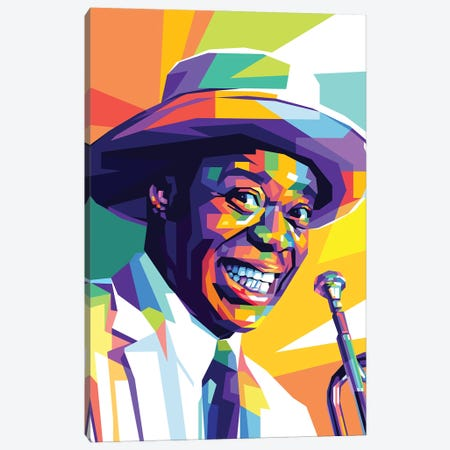 Louis Armstrong Canvas Print #DYB49} by Dayat Banggai Canvas Wall Art