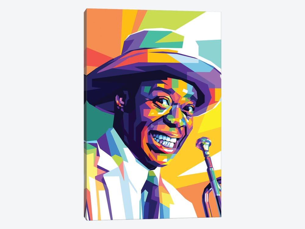 Louis Armstrong by Dayat Banggai 1-piece Canvas Wall Art