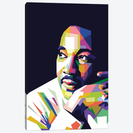 Martin Luther King Jr Canvas Print #DYB51} by Dayat Banggai Canvas Art Print