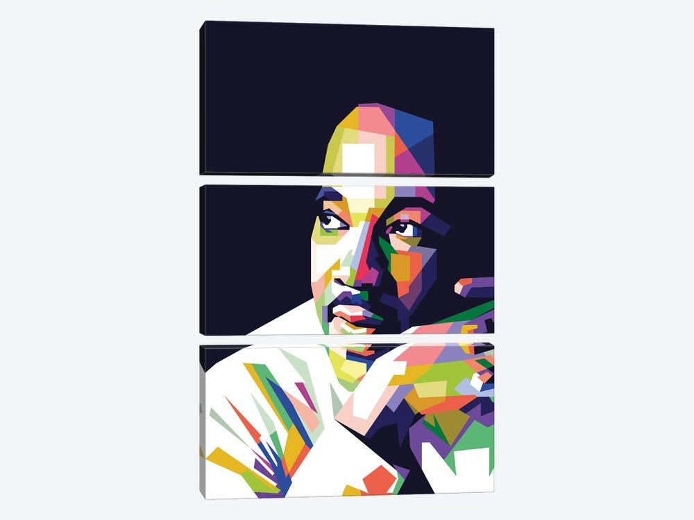 Martin Luther King Jr by Dayat Banggai 3-piece Art Print
