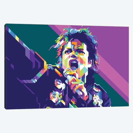Michael Jackson Canvas Print #DYB53} by Dayat Banggai Canvas Art Print