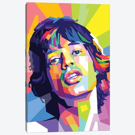 Mick Jagger Canvas Print #DYB54} by Dayat Banggai Canvas Artwork