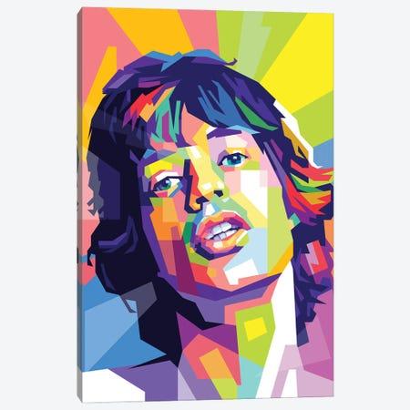Mick Jagger Canvas Print #DYB54} by Dayat Banggai Canvas Artwork