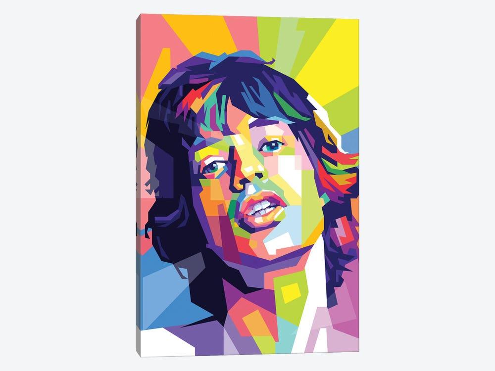 Mick Jagger by Dayat Banggai 1-piece Canvas Artwork