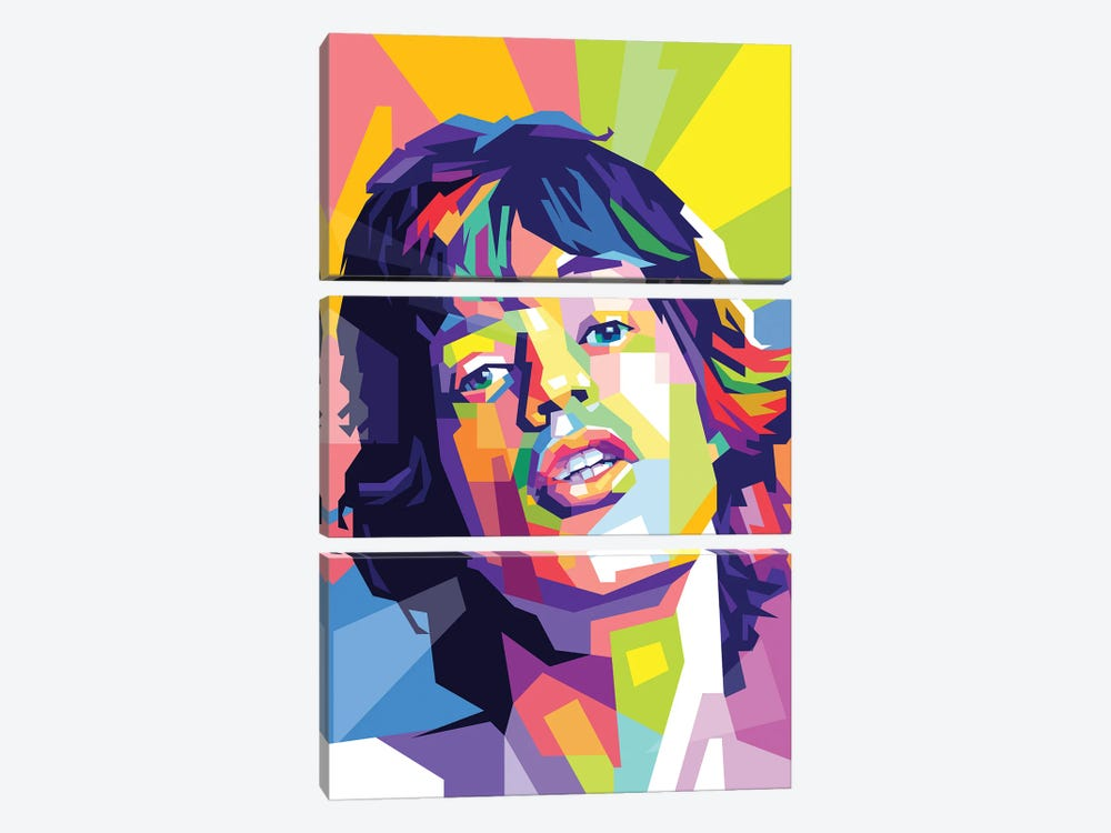 Mick Jagger by Dayat Banggai 3-piece Canvas Artwork
