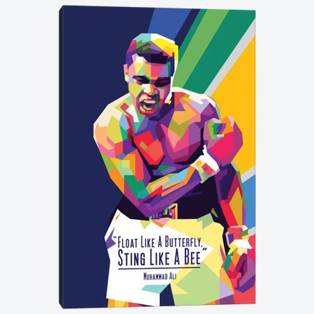 Muhammad Ali Quotes Canvas Print #DYB55} by Dayat Banggai Canvas Wall Art
