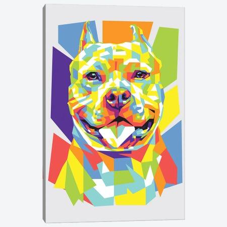 Pitbull Canvas Print #DYB56} by Dayat Banggai Canvas Artwork