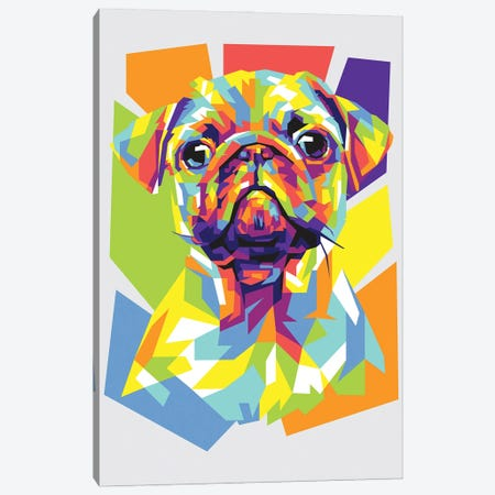 Pug Canvas Print #DYB57} by Dayat Banggai Canvas Art