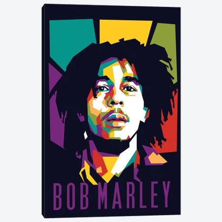 Reggae King Bob Marley Canvas Print #DYB58} by Dayat Banggai Canvas Print