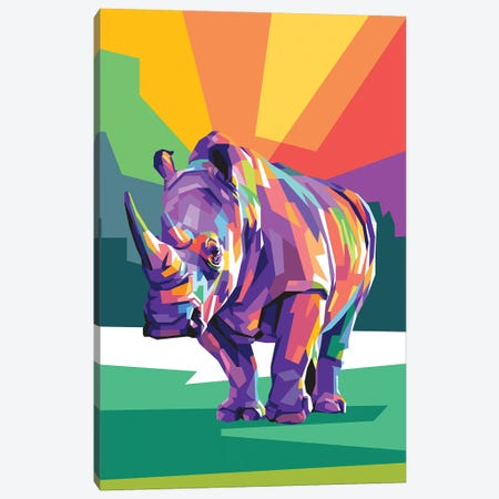 Rhino Canvas Print #DYB59} by Dayat Banggai Canvas Print