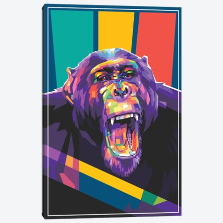 Angry Monkey Canvas Print #DYB5} by Dayat Banggai Canvas Art